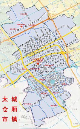 城厢镇行政区划图